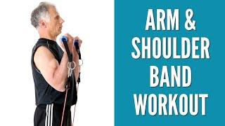 Top 10 Resistance Band Workout For Arms & Shoulders at Home.