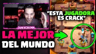 ASÍ JUEGA LA MEJOR JUGADORA DEL MUNDO EN EL TOP DEL MUNDO ! ! - DrekzeNN - Clash Royale