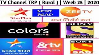 Top 10 TV Channel TRP ( Rural ) | Week 25 | 2020