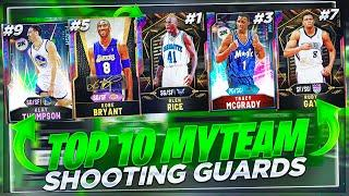 THE TOP 10 BEST SHOOTING GUARDS IN NBA2K20 MYTEAM THAT ARE ON EVERY GODSQUAD!!