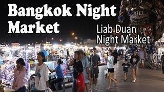Bangkok Night Market: Street Food & Shopping at Liab Duan Night Market in Bangkok Thailand