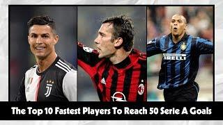 Serie A | The Top 10 Fastest Players To Reach 50 Serie A Goals | CLRĐ Football