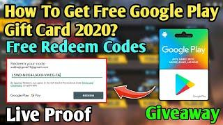 How to get free google play gift card in 2020? | Free Redeem Codes | Free PayPal Cash |With Giveaway