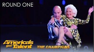 Paddy & Nicko: 85-Year-Old Woman Performs AGE-DEFYING Act | @America's Got Talent Champions 2020