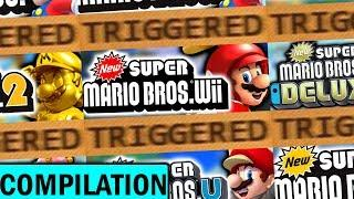 The New Super Mario Bros TRIGGERS You Compilation!