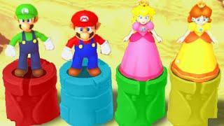 Mario Party 10 Best Minigames - Luigi vs Mario vs Peach vs Daisy (Master Difficulty)