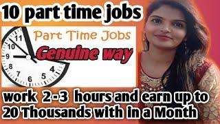 Top 10 part time Jobs || Work from home jobs || Top 10 ideas for part time jobs