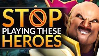 3 MOST PLAYED Heroes that ACTUALLY SUCK?! - Best Meta Tips to RANK UP - Dota 2 Pro Guide