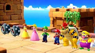 Super Mario Party Minigames - Bowser vs Peach vs Mario vs Luigi (Master CPU)