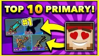Top 10 BEST LOOKING PRIMARY Weapons in Pixel Gun 3D!