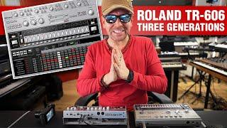 3 Generations Of Roland TR 606