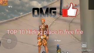 TOP 10  HIDING PLACE IN FREE FIRE||KALAHARI||