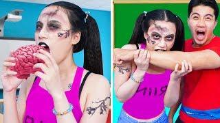 Zombie At School ! 23 DIY Zombie School Supplies / Zombie Food Recipes & Zombie Pranks by T-Tips