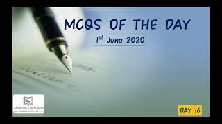 1st June 2020 Top 10 MCQs for Prelims 2020/21