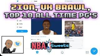 ZION Williamson goes CRAZY in debut. University of Kansas BRAWL. Top 10 Point Guards of ALL TIME!