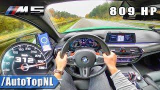 809HP BMW M5 F90   312km/h AUTOBAHN POV (NO SPEED LIMIT) by AutoTopNL