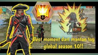BEST MOMENT  KILL DARI MANTAN TOP RANK INDONESIA || FREE FIRE BATTLEGROUND