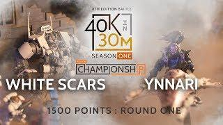 Warhammer 40k Battle Report Ynnari VS White Scars. 1500 PTS Play On Championships Round 1!