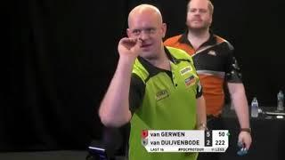 Michael van Gerwen 10-darter attempt on bulls-eye