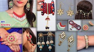 9 DIY Fashion Jewelry Ideas !!! Best Designer - for Kurtis, Gown Dress, Crop Tops, & Sarees