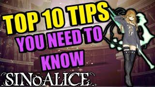 SINoALICE - Top 10 tips to progress and get power