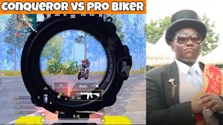 Asia TOP Conqueror vs Pro Biker  | PUBG Mobile | Mr Spike