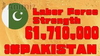 [GLOBAL FIRE POWER RANKING 2021] Top 10 Countries Number Of  Labor Force Strength 2021 (world army)