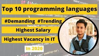 Top 10 programming languages to learn in 2020 | Which programming language is best for getting job
