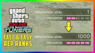 The FASTEST & EASIEST Way To Earn Reputation Level Ranks And Unlocks In GTA 5 Online Santos Tuners!