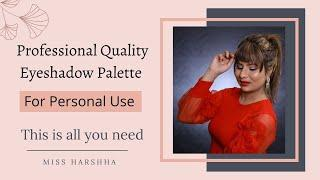 Which Eyeshadow Palette Is Good For Beginners? | PAC Eyeshadow Palette Review | Miss Harshha