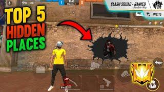 Top 5 Best Hidden and Hiding place in free fire 2020 | Hidden Places in Clash squad freefire