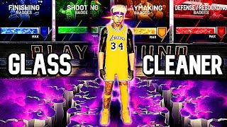 UNIQUE RARE GLASS CLEANER BUILD IS A MONSTER | BEST SHOOTING CENTER BUILD IN NBA 2K20 HANDS DOWN