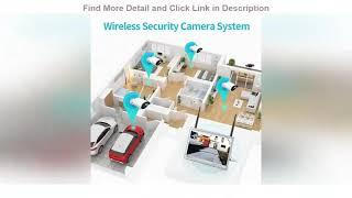 Top 10 HeimVision HM243 1080P Wireless Security Camera System with 12 inch LCD Monitor, 8CH NVR 4Pc