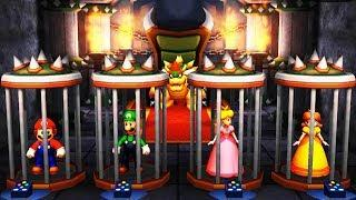 Mario Party The Top 100 - MiniGames - Mario Vs Yoshi Vs Waluigi Vs Peach (Master Difficulty)
