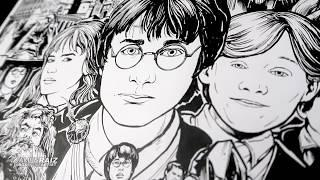 """Professional Artist Draws HARRY POTTER from the word """"HARRY POTTER""""!  SAtiSfYInG!"""