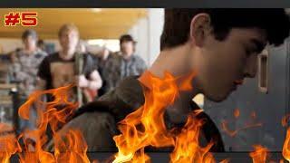 Top 5 school fights scenes #satisfya