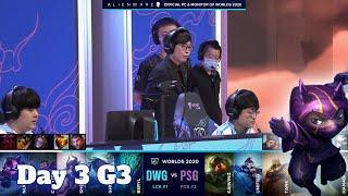 DWG vs PSG | Day 3 Group B S10 LoL Worlds 2020 | DAMWON Gaming vs PSG Talon - Groups full game