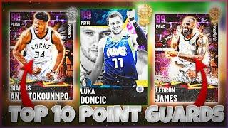 RANKING THE TOP 10 BEST POINT GUARDS IN NBA 2K21 MyTEAM!!