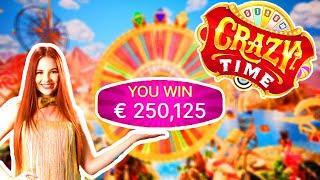 Bidule 251.000€ WORLD RECORD WIN!!! - TOP 10 Biggest Wins on Crazy Time!