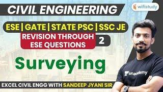 10 PM - ESE, GATE, STATE PSC, SSC JE 2019-20 | Civil Engg by Sandeep Sir | Surveying