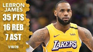 LeBron James achieves a career-first in Lakers vs. Mavericks matchup | 2019-20 NBA Highlights