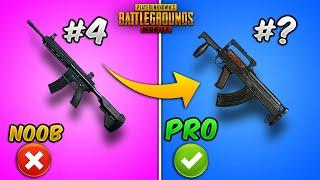 Top 10 Best Guns/Weapons in PUBG MOBILE with (Tips and Tricks) Weapon Guide