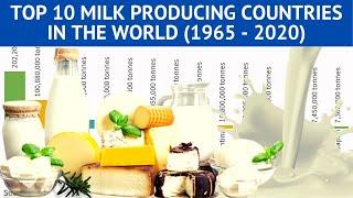 Top 10 Countries by Milk Production in the world (1965 - 2020) | Country Rankings | Vital Statistics