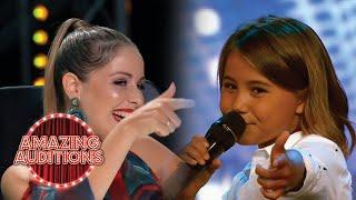 CUTE 10 Year Old Singer WOWS Judges With Justin Bieber Cover | Amazing Auditions