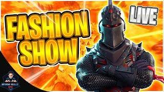 Fortnite Fashion Show Live! Skin Competition |CUSTOM MATCHMAKING SOLO/DUO/SQUAD SCRIMS FORTNITE