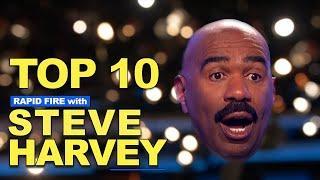 Top 10! Rapid Fire With Steve Harvey
