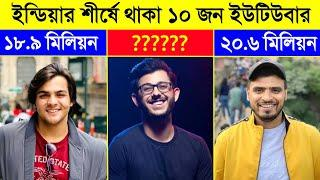 Top 10 Indian YouTubers 2020 || Who is Number.1 YouTuber of India-Carryminati || CHANNEL UNIQUE