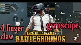 Best four finger claw with gyroscope/ best sensitivity for pubg / pubg 4 finger control