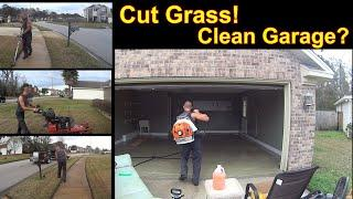 Lawn Service & Garage Cleaning Top to Bottom (Time Lapse)