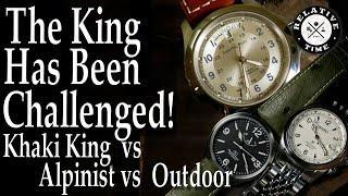 Field Watch Comparison : Hamilton Khaki King / Seiko Alpinist / Orient Star Outdoor.  Who's the King